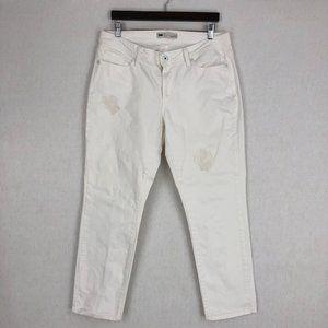 Levi's 529 Curvy White Stretch Skinny Jeans Sz 16